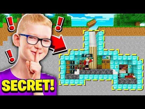 FINDING A FANS SECRET BASE! (HACKER!)
