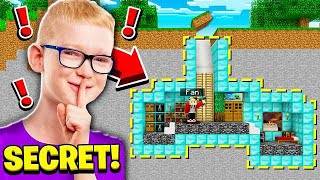 FINDING A FANS SECRET BASE! (HACKER!)