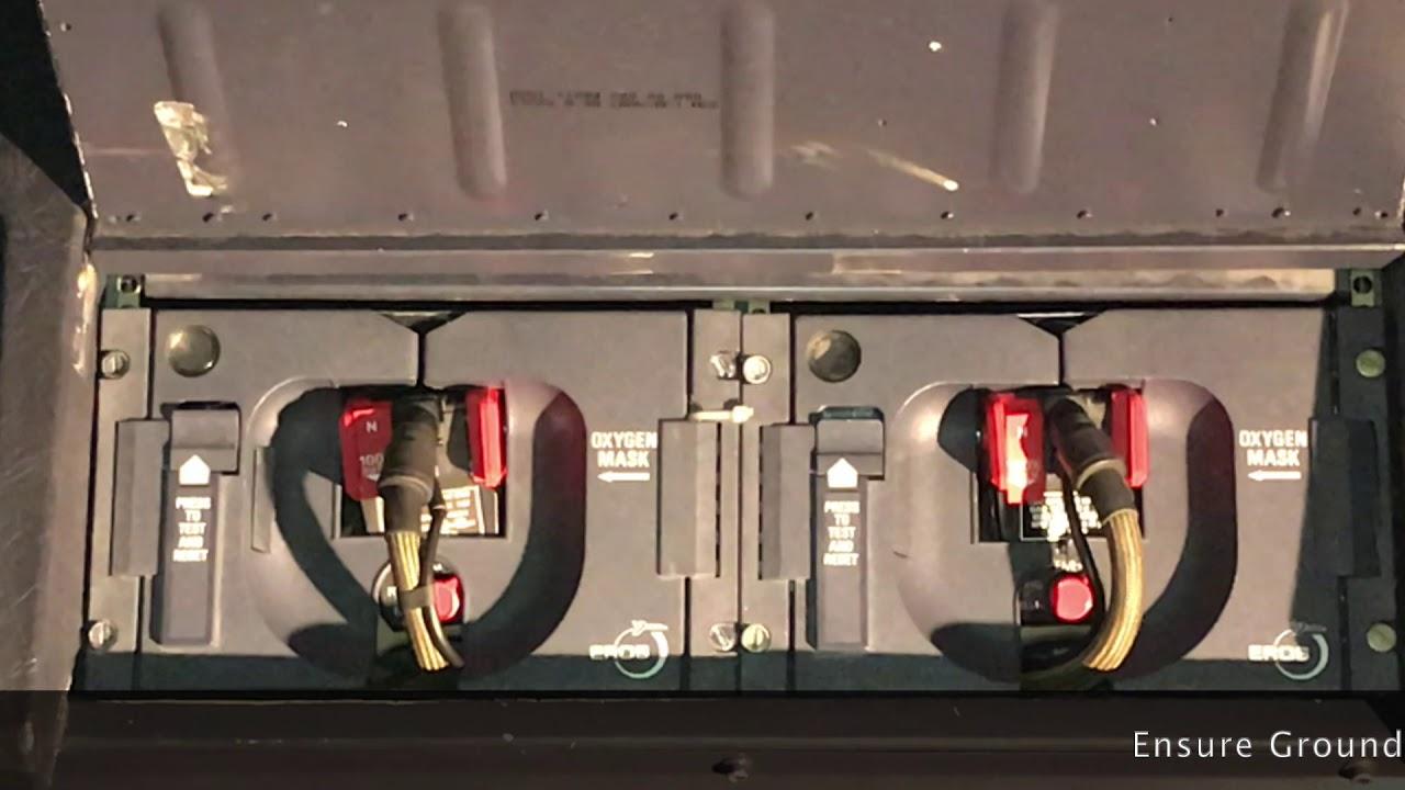 A320 Crew Oxygen Test demo
