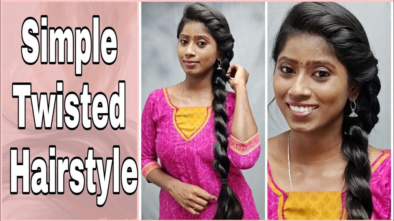 Simple and Easy Twisted Hairstyle   Long Hair Princess
