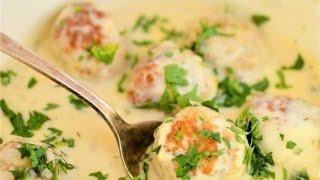 Вкусные  тефтели в сливочном соусе 🍲