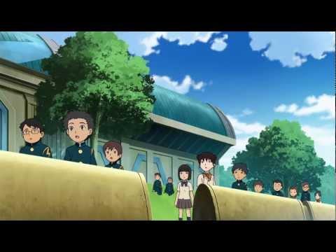 Inazuma Eleven la pelicula 1 Saikyo Gundam Ogre Shuurai sub español poster