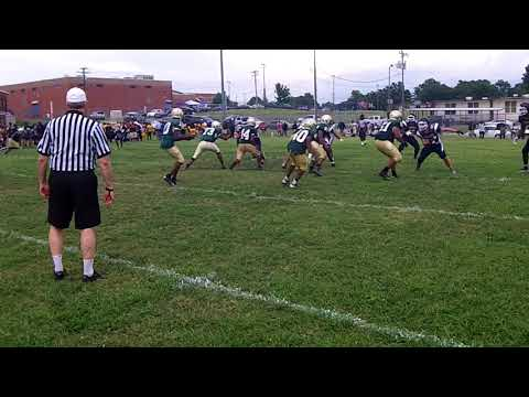 Long bomb pass downfield by Smith