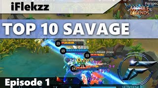 ONE SHOT INSTANT SAVAGE?! TOP 10 SAVAGES #1 MOBILE LEGENDS