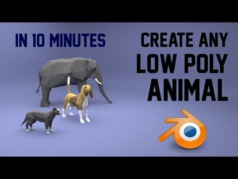 Create any low poly animal   Blender   10 mins