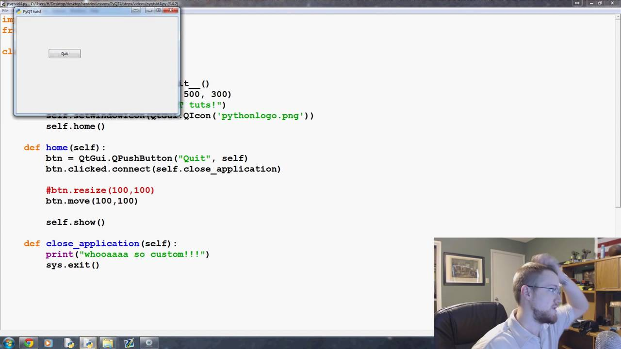Button Functions PyQt with Python GUI Programming tutorial