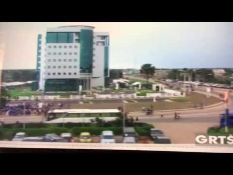 Yaya Jammeh opening the Petroleum House Building