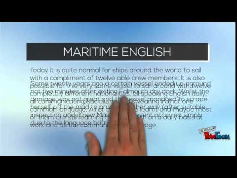 importance of english in maritime industry