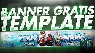REGALING BANNER [GRATUIT] EDITABLE POUR YOUTUBE TEMPLATE BANNER FORTNITE - dacuu7