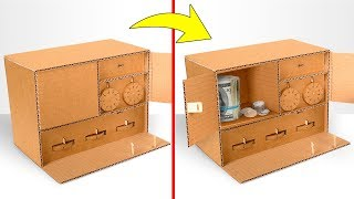 DIY Cardboard Safe With 3 Locks | Key and Combination Locks
