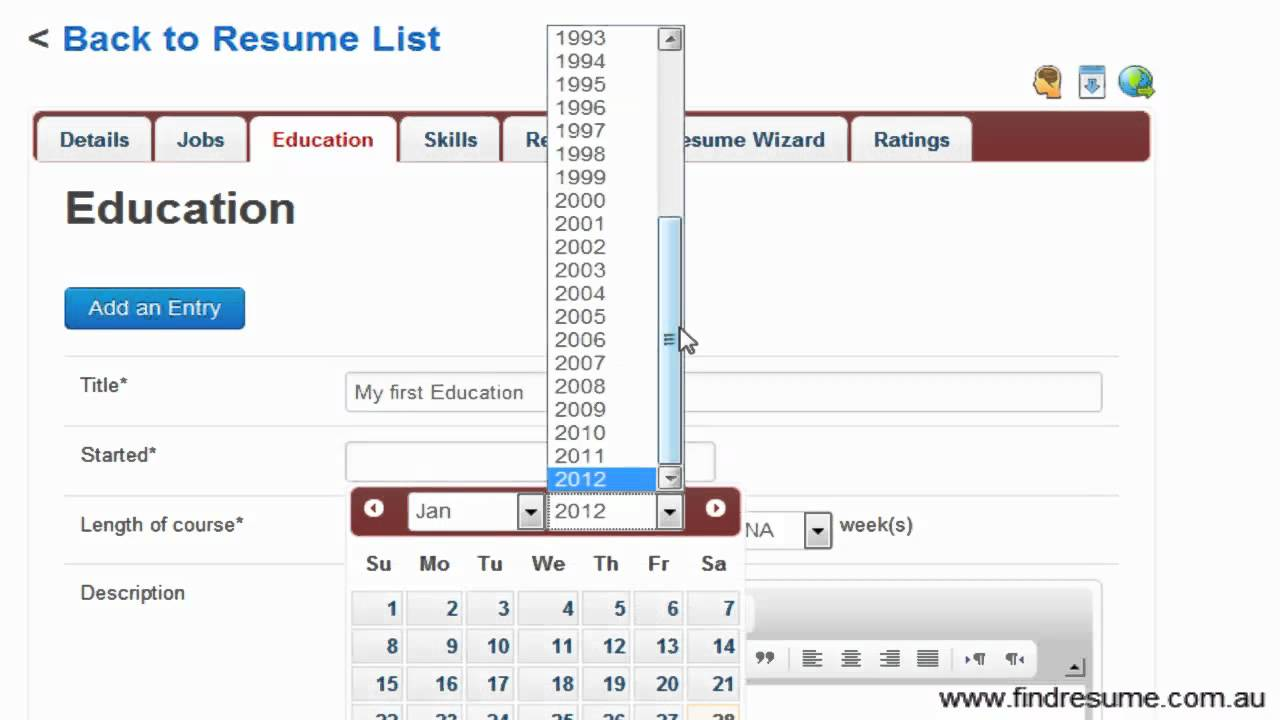 create resume use the free resume wizard find resume - Resume Wizard