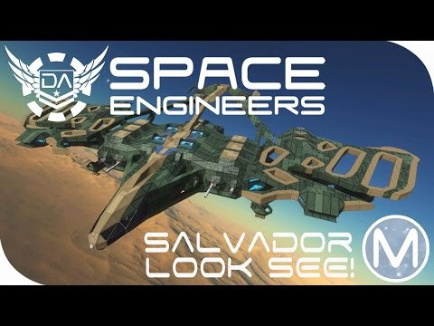 Space Engineers | The Salvador Drop Ship! - EP103