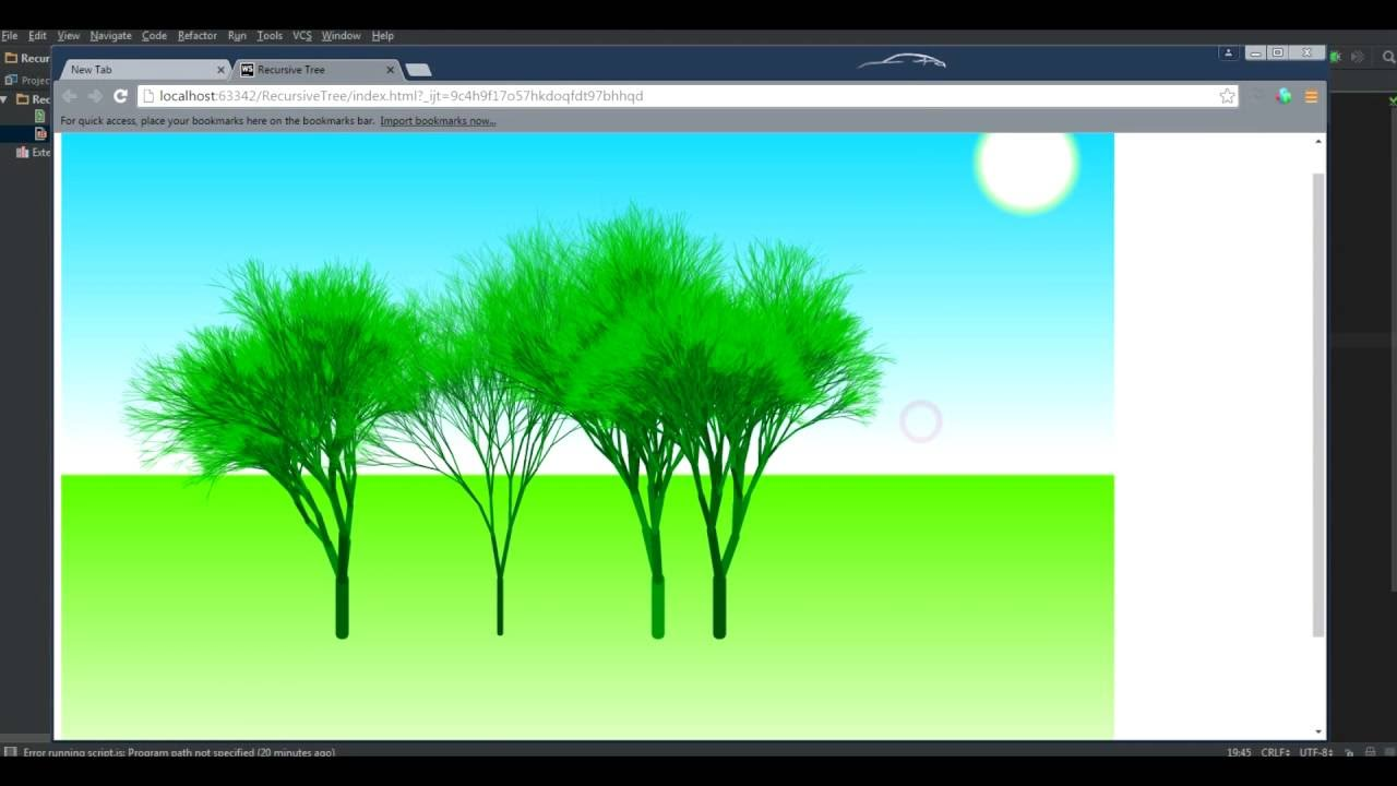 Javascript How To Draw A Tree Using Recursion And Canvas Youtube