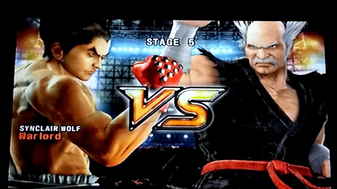 Tekken 5 Ps2 Kazuya Arcade Battle Youtube