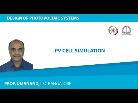 PV cell simulation