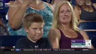 Kid Stares During NCAA College World Series