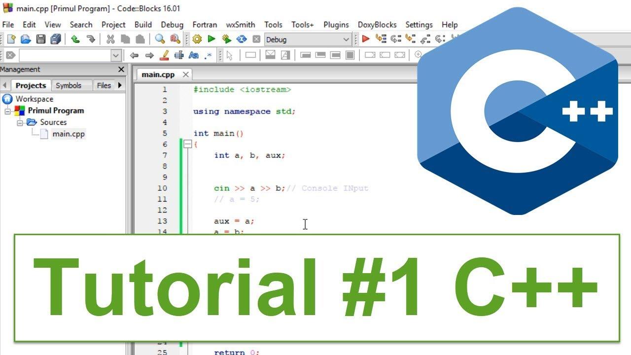 Introducere în programare - tutorial C++ - cursul 1