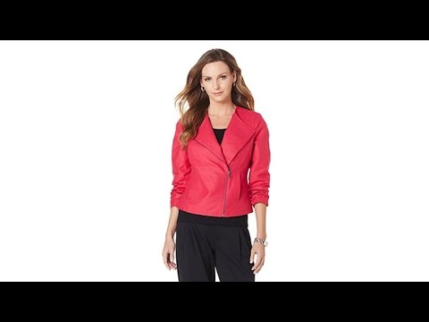 8056d534580 G by Giuliana Faux Suede Biker Jacket - YouTube