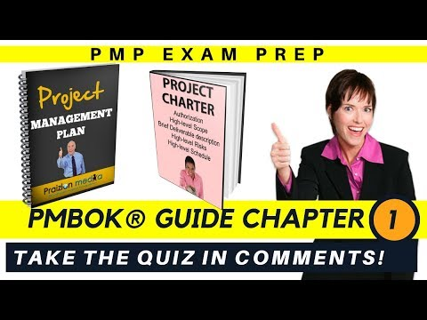 🙋 👌PMBOK Guide Sixth Edition CHAPTER 1 (signup for full course: www.praizion.com)