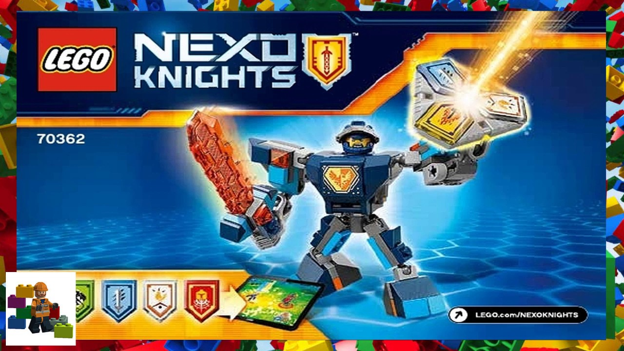 Lego Instructions Nexo Knights 70362 Battle Suit Clay Youtube