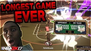 LONGEST NBA 2K17 MYPARK GAME ! 1000 POINTS CHALLENGE !!! GOT REP BOOST!