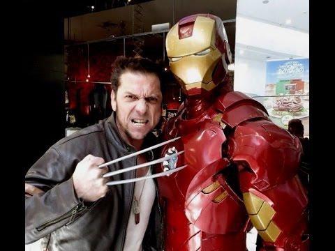 Iron Man VS Wolverine... Cosplay Costume.