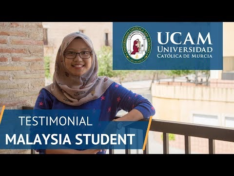Malaysian student studying in Spain | UCAM Catholic University of Murcia
