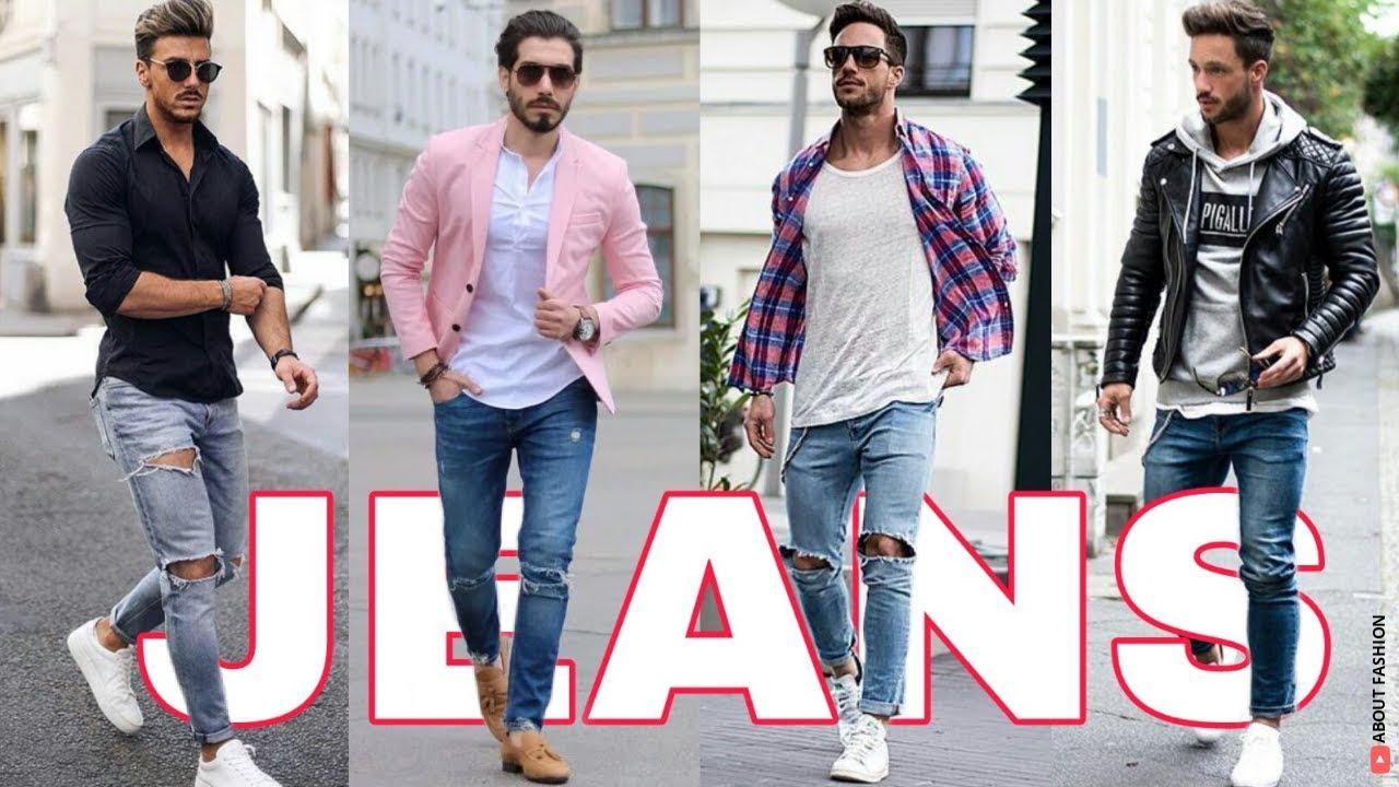 Outfits De Hombres Con Jeans De Moda 2020 2021 Youtube