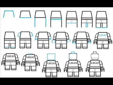 How to draw a lego man minifig step by step drawing tutorial