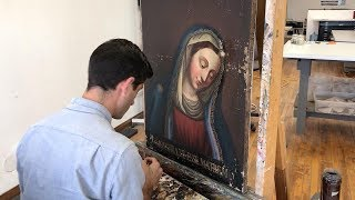 Fine Art Conservator Restores Amazing 700 Year Old Paintings