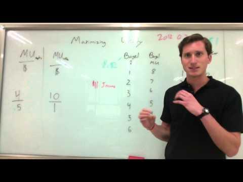 Marginal utility and maximizing utility
