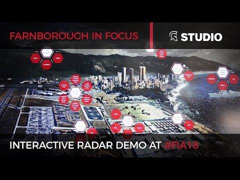 Interactive radar demo with Raytheon at FIA 2018