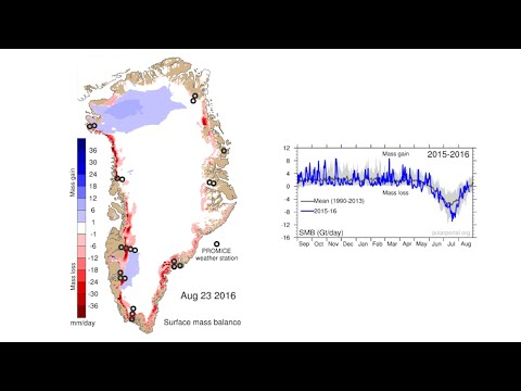 The Greenland ice sheet in 2016