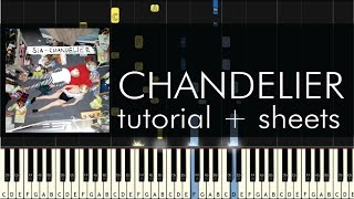 Chandelier - Piano Tutorial - How to Play - Sia