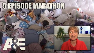 Hoarders Top Episodes MARATHON - Binge Them w/ Dorothy the Organizer! Part 4 | A&E