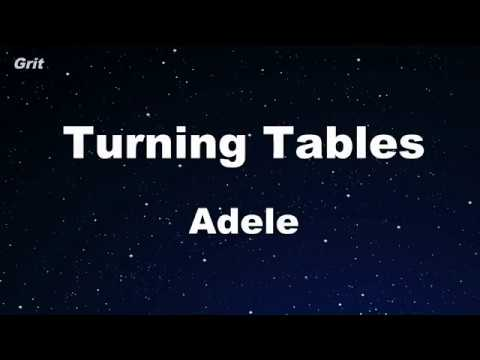 Turning Tables - Adele Karaoke 【No Guide Melody】 Instrumental