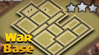 TH9 (Town Hall 9) War Base Anti 3 Star + Replays | Anti Valkyries/Anti Bowlers | Clash Of Clans