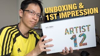 XP-Pen Artist 12 Pen Display (Unboxing \u0026 First Impression)