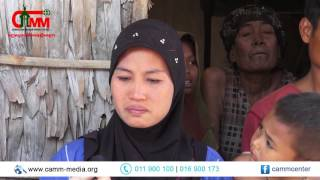 Cambodian Muslim poor families in Doung Village crying for helps CAMM- Charity Program 19-02