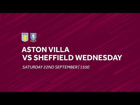 Aston Villa 1-2 Sheffield Wednesday   Extended highlights