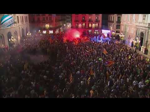 Fireworks erupted in Barcelona at independence declaration rally | Breaking News!