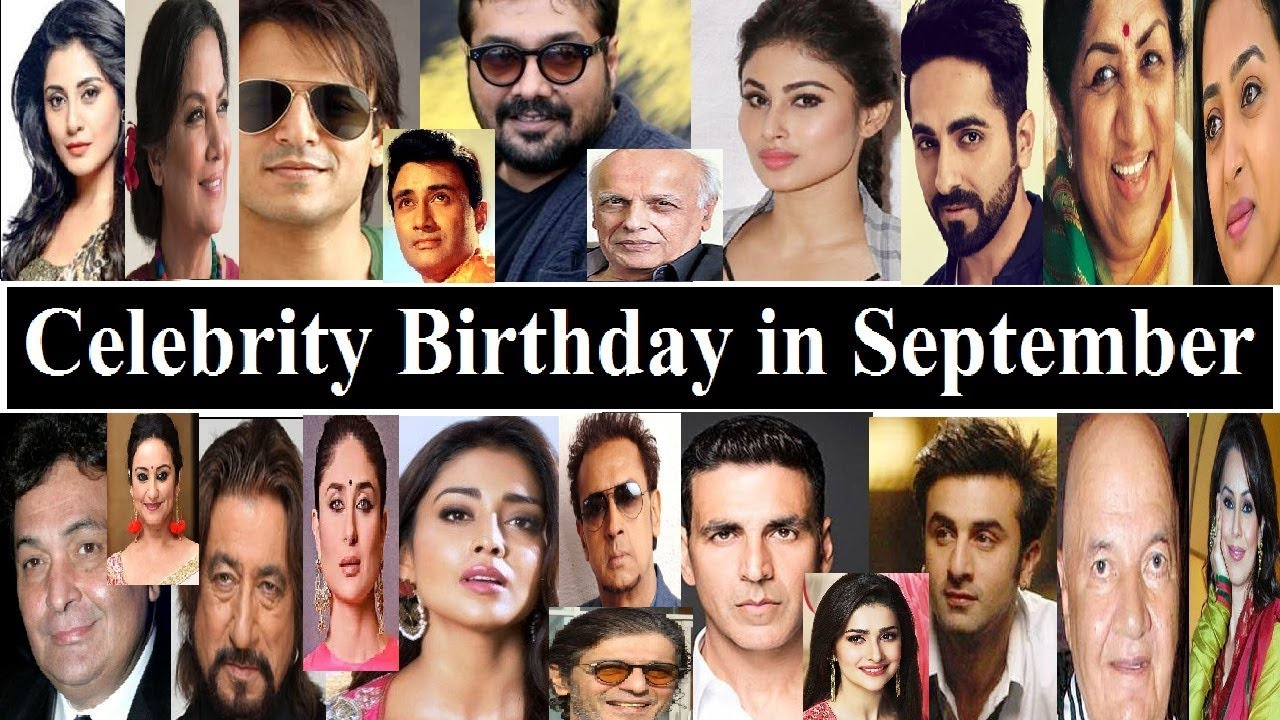Bollywood Celebrity Birthday In September Youtube