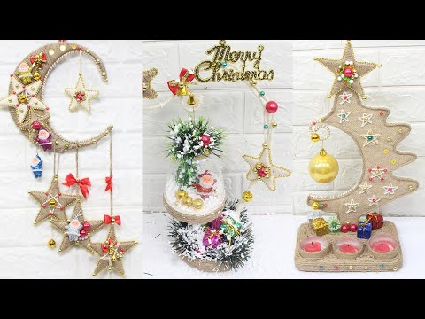 10 Jute craft Christmas decorations ideas | Home decorating ideas
