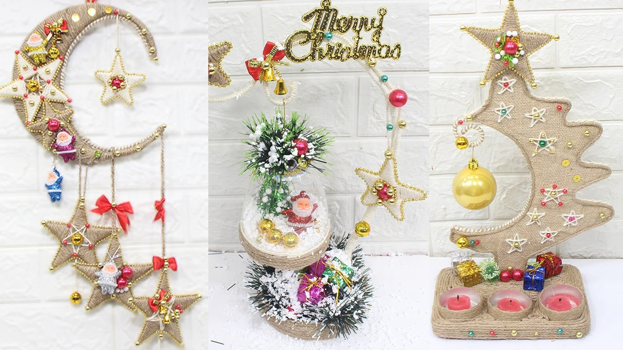 10 Jute Craft Christmas Decorations Ideas Home Decorating Ideas Youtube