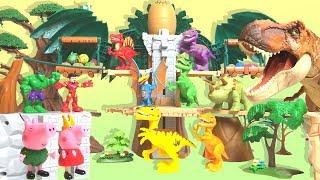 【Peppa Pig】 Time to travel to the age of dinosaur Iron Man Hulk Episode1