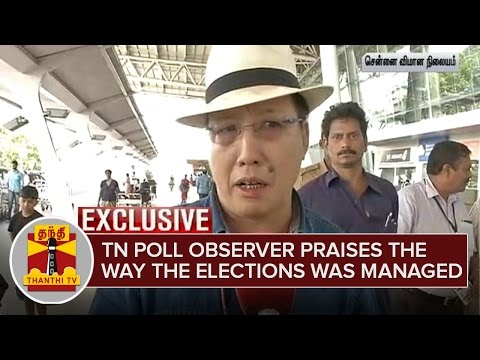 Exclusive | TN Poll Observer praises the way the Election was Managed | ThanthI TV