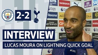 INTERVIEW | LUCAS MOURA ON LIGHTNING QUICK CITY GOAL | Man City 2-2 Spurs