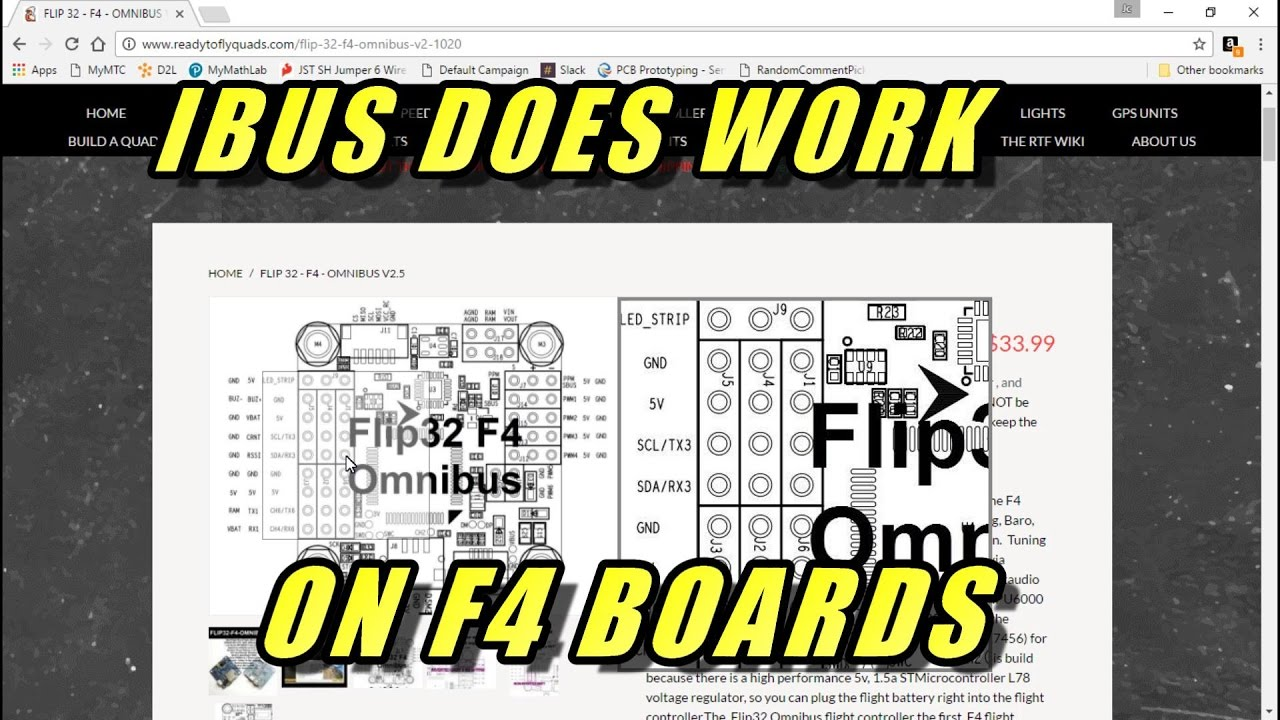 IBUS On Omnibus F4 (and probably other F4 boards) - YouTube