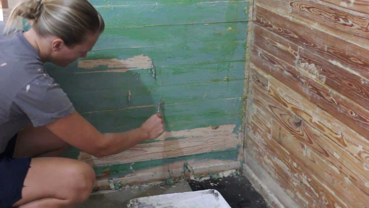 Paint Stripping Wood Slat Walls Youtube