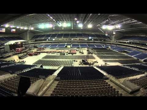 One Direction Concert set up